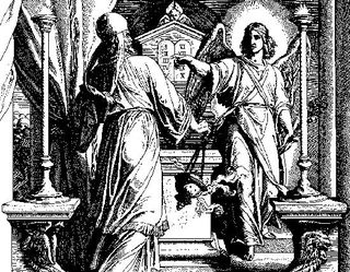 Zechariah in temple