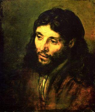 Rembrandt-portrait-of-christs-head-1650-1
